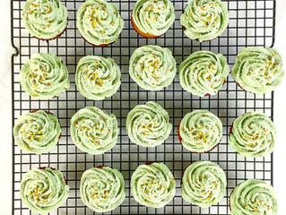 Paleo Vanilla Cupcakes with Banana Curd Filling & Whatever-Color Frosting