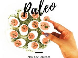 Pink Deviled Eggs