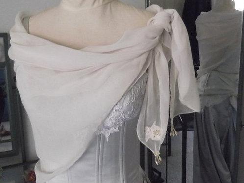 French Chantilly Lace Chiffon Rectangular Wrap
