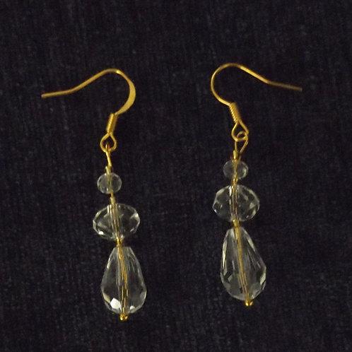 Pear Drop Crystal Hook Earrings