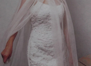 French Chantilly Lace Gown