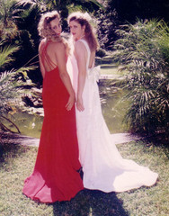 Slinky Low Back Gowns