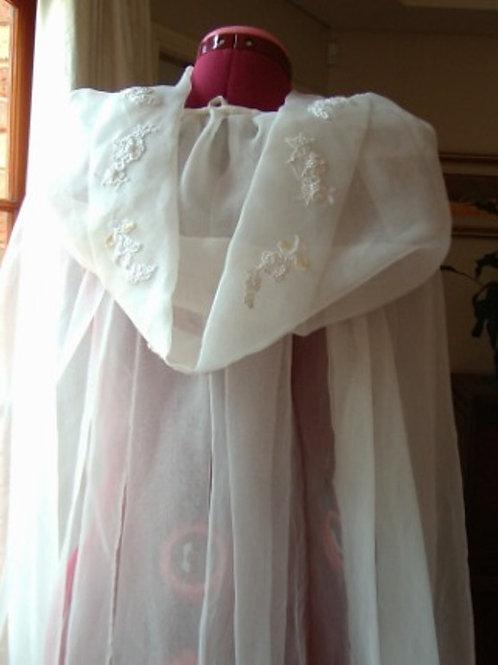 Lace Applique Organza Bridal Cloak