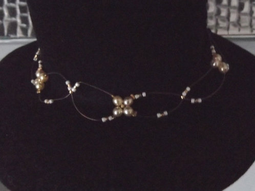 Pearl Illusion Choker Necklace