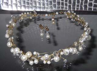 Pearl and Crystal Necklace Set