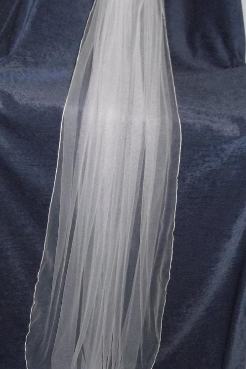 Single Tier 3/4 Length Veil, 126  cm length