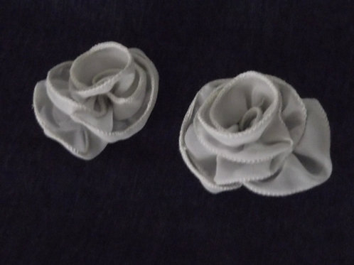 2 Silver Rose Hairpins