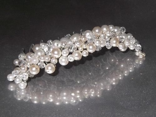 Pearl and Crystal Haircomb