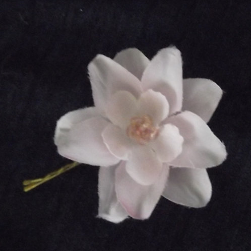 Beaded Pink Blossom Hairpin
