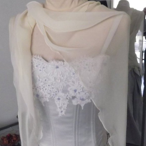 Chiffon Beaded Wrap