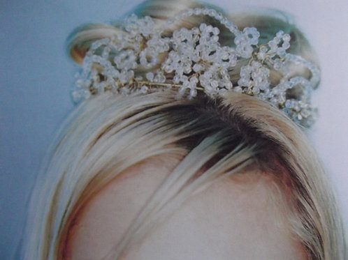 Crystal Flower Tiara Headpiece