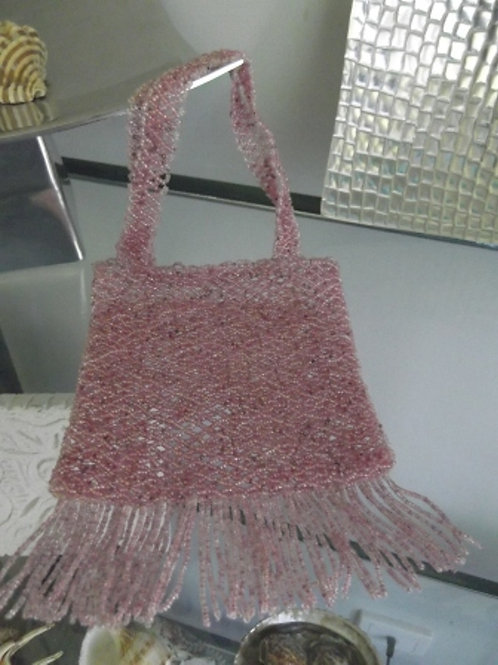 Beaded Dusty Pink Bag