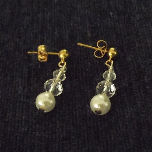 Pearl Crystal Drop Earrings