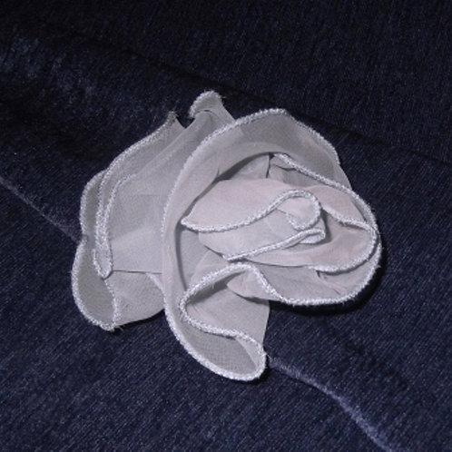 Blue Chiffon Roses Hairpin