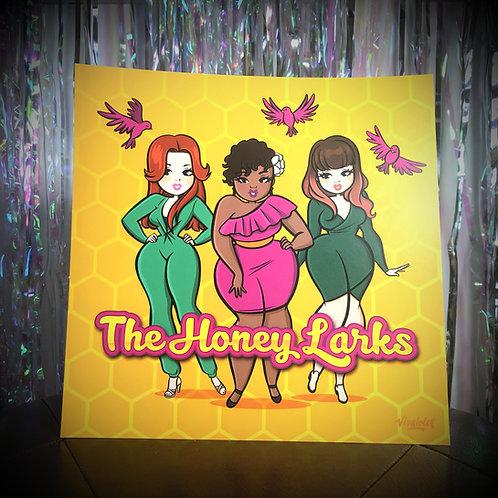 The Honey Larks- Poster