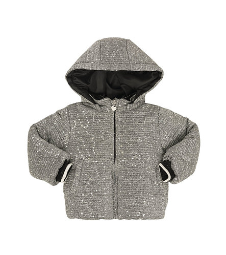 KNIT PAILLETTES QUILTED JACKET - AA1135