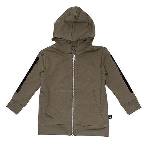 Hoodie Zipped - Olive +Slim Pants - Olive Set