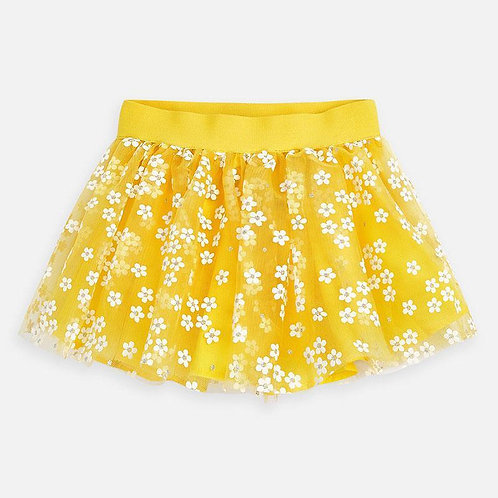 MAYORAL 3901 YELLOW TULLE FLOWER SKIRT