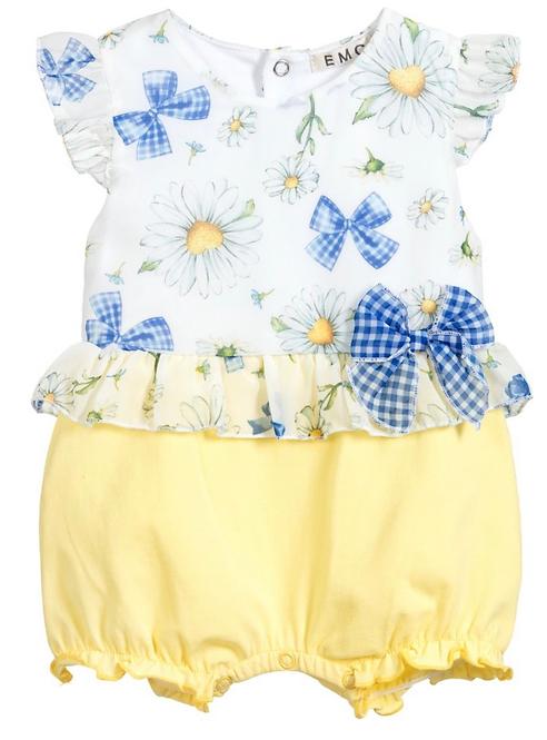 Girls White & Yellow Shortie
