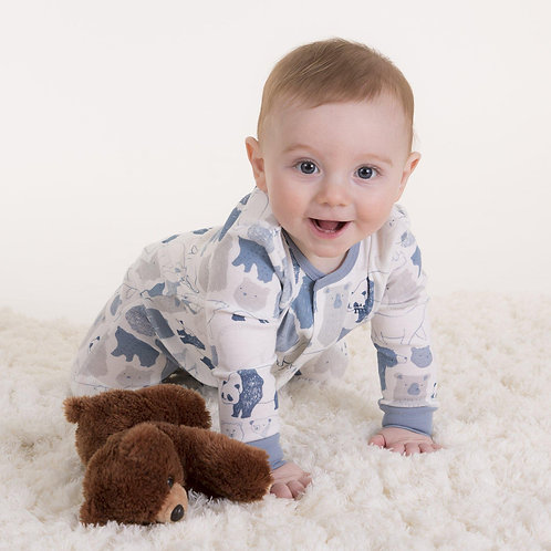unbearably cute organic cotton magnetic footie