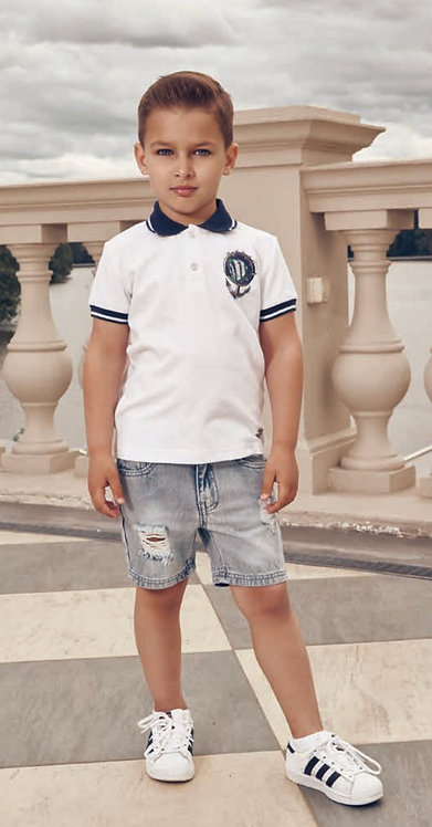 Short sleeved polo shirt for boy