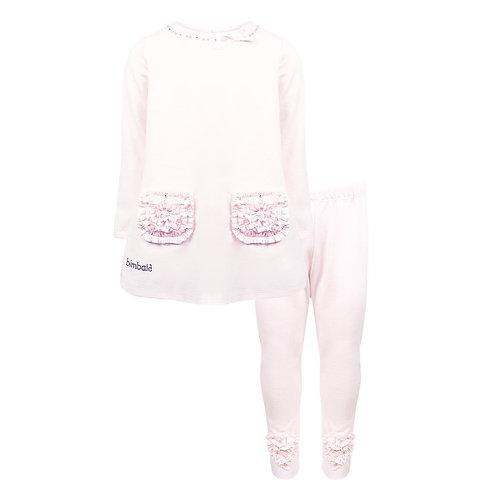 Pink Ruffle Tunic Top & Leggings Pink