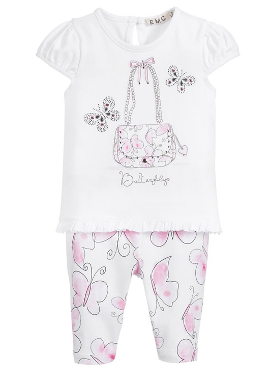 Baby Girls Cotton Leggings Set