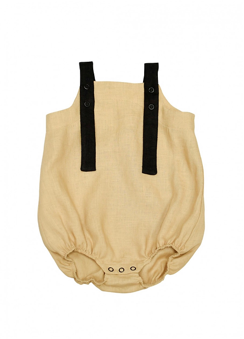 Hebe   Baby Girls Rompers  Romper beige linen