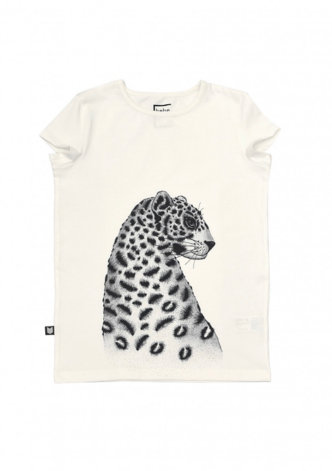 Hebe   GIRLS   Tops  Top white with leopard for girls
