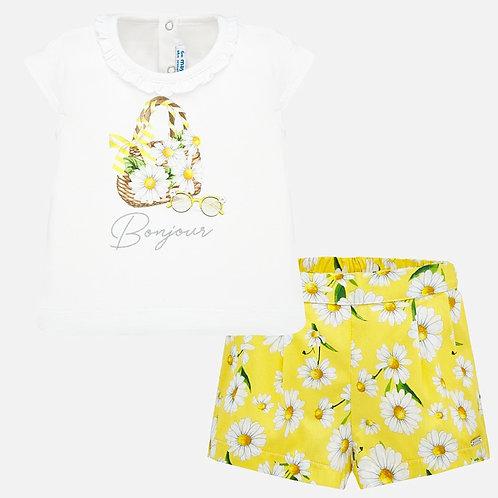 Mayoral 1212 Set with Bermuda Shorts baby girl
