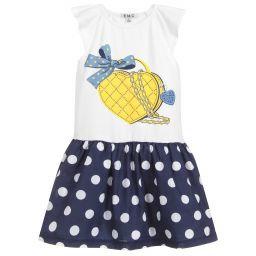 EMC Cotton Jersey Polka Dot Dress