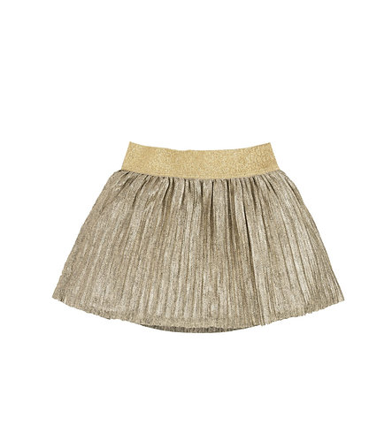 AMINATED PLEATED FABRIC SKIRT - AZ4081