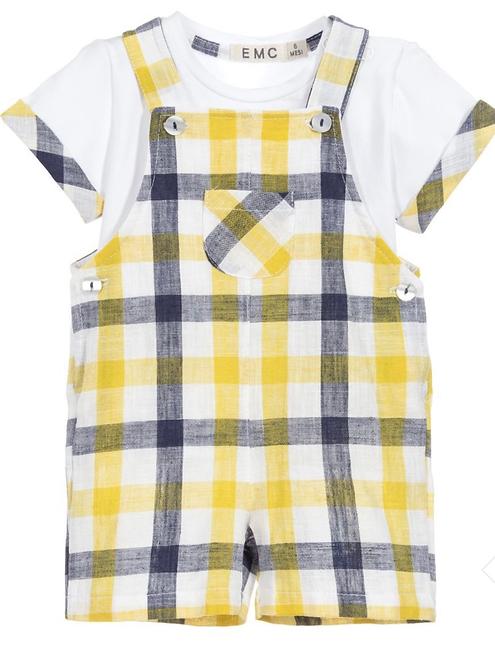 Baby Yellow Dungaree Set
