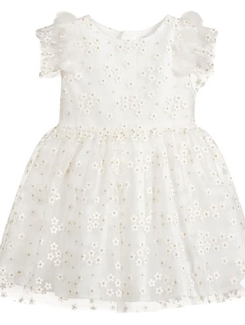 Mayoral Girls White Tulle Dress