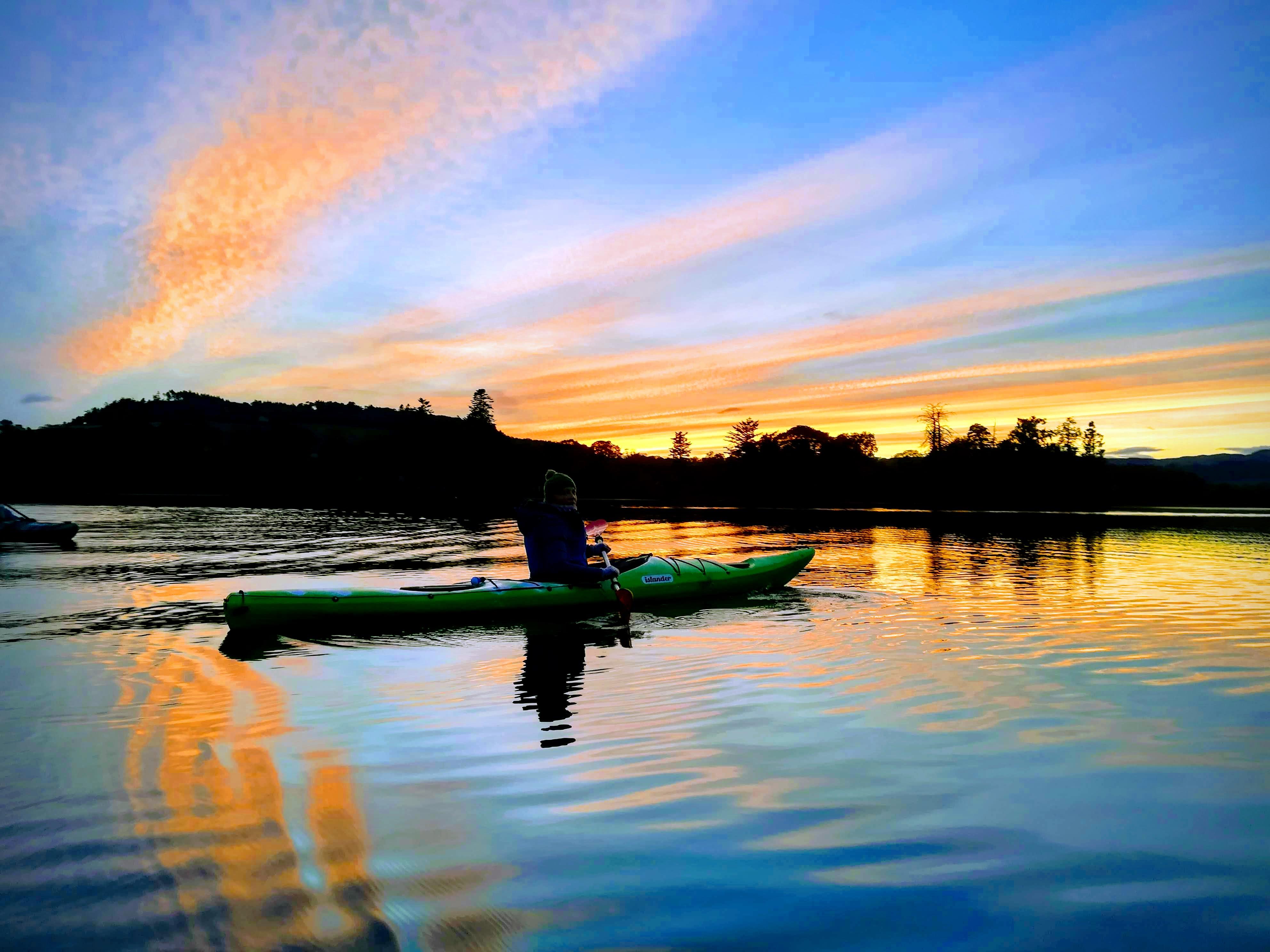 Night kayaking at Clunie Loch near Blairgowrie