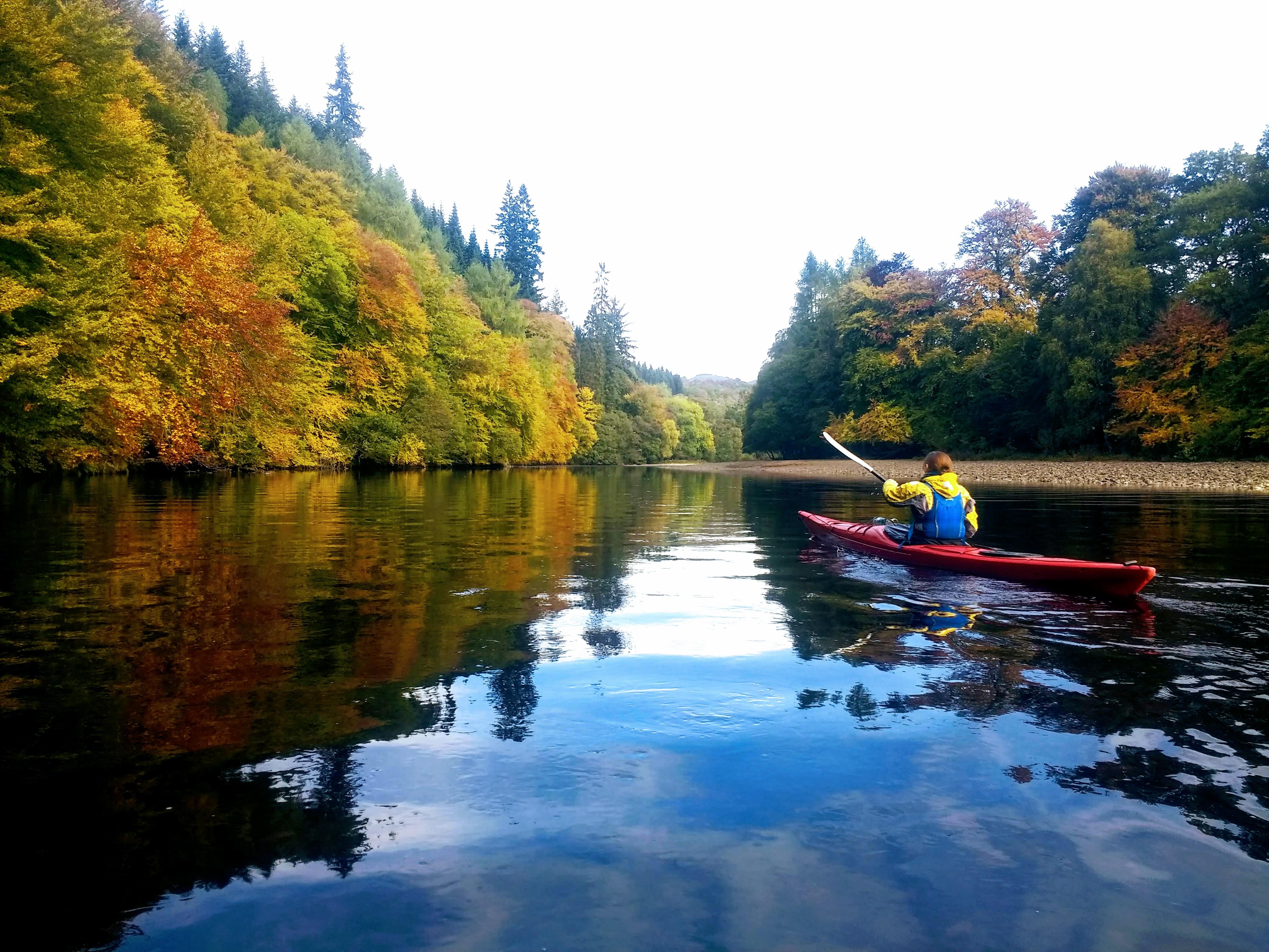 Kayaking at Loch Faskally near Pitlochry