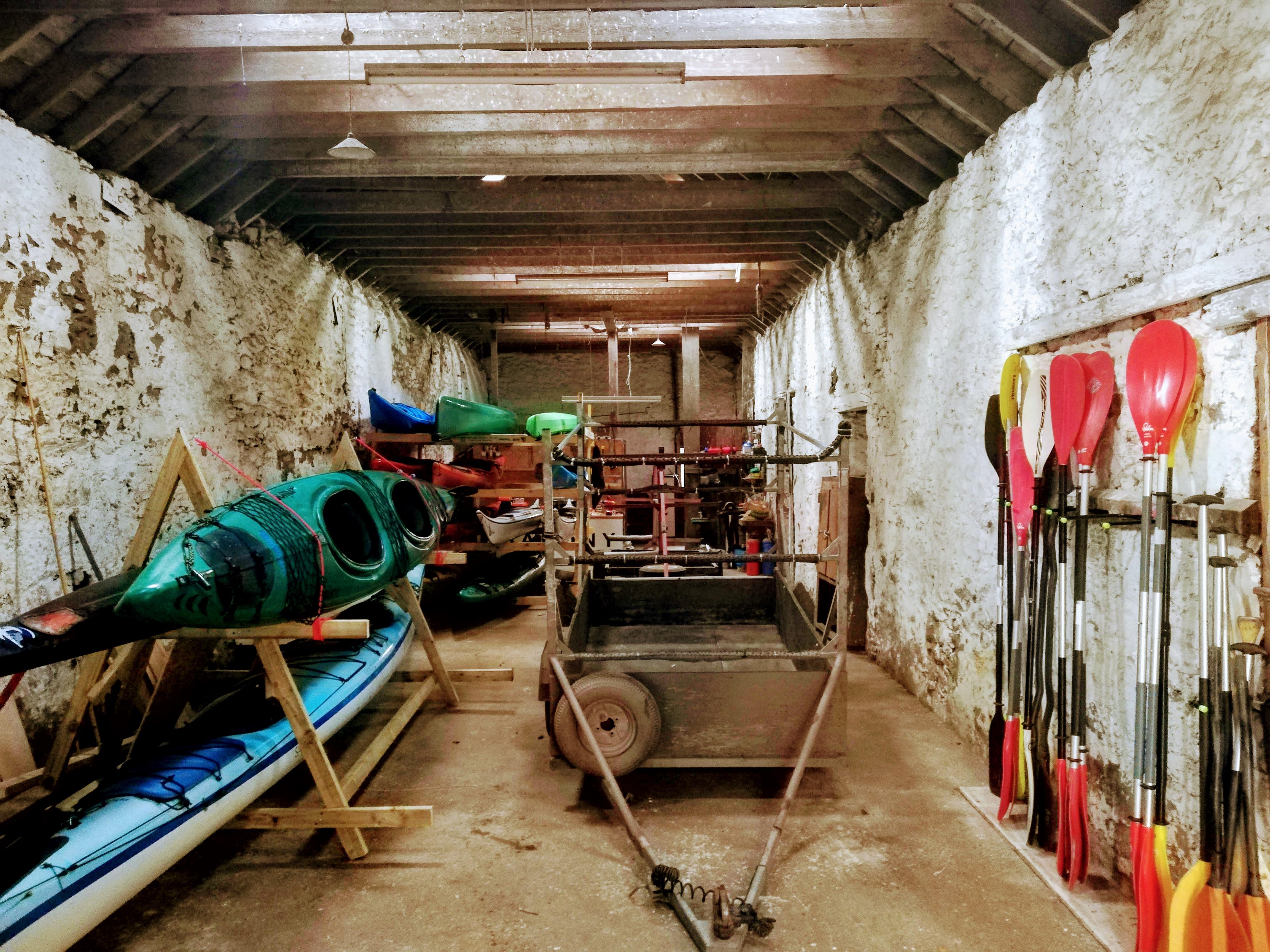Plenty of storage for kayaks