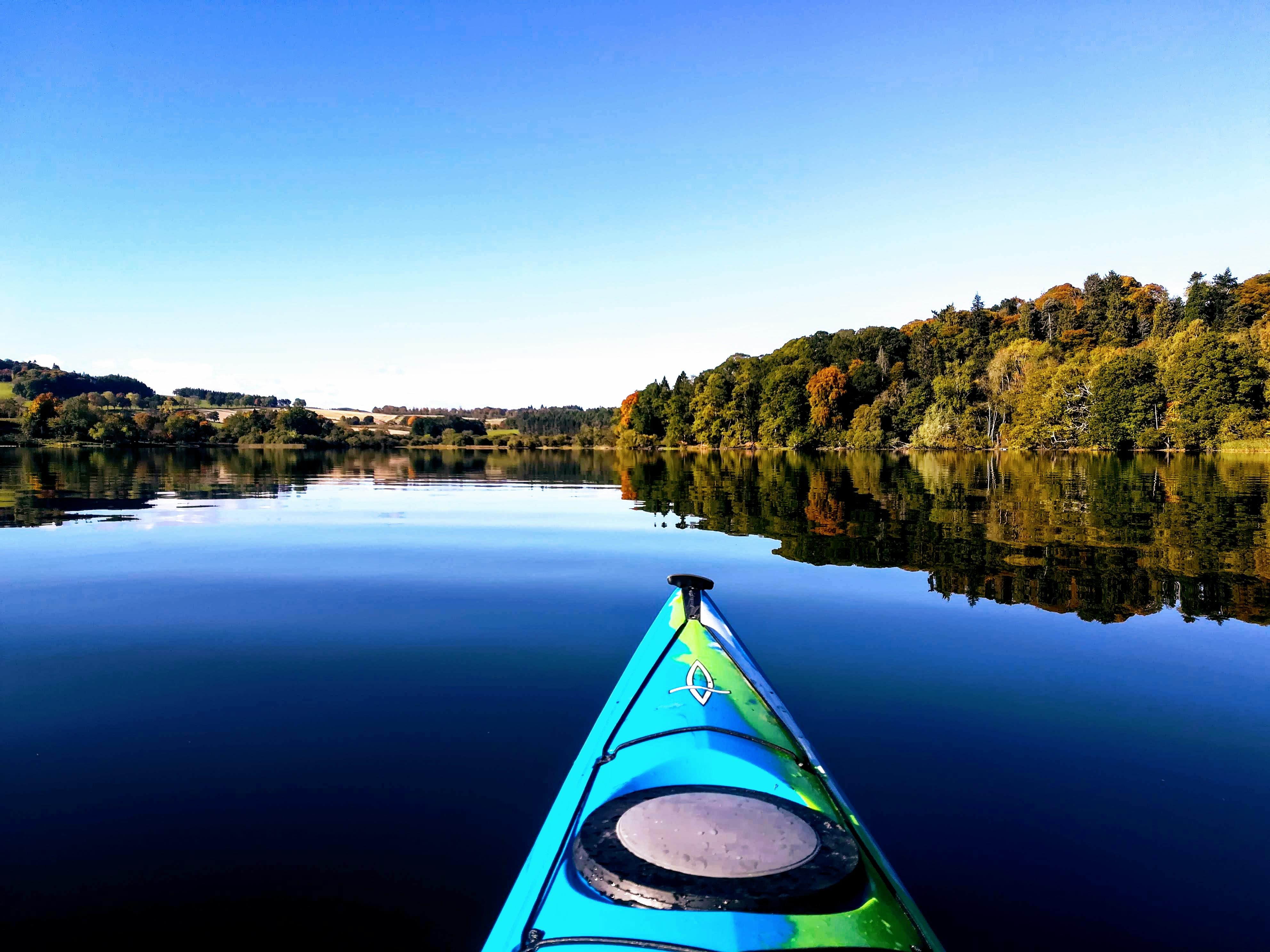 Perfect autumn in the Tay Country, Clunie Loch