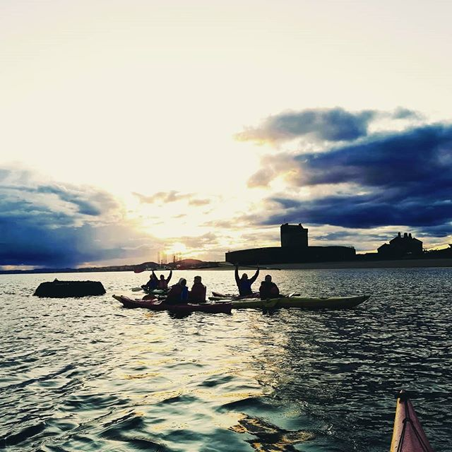 Sunset time - kayaking in Dundee with Outdoor Explore