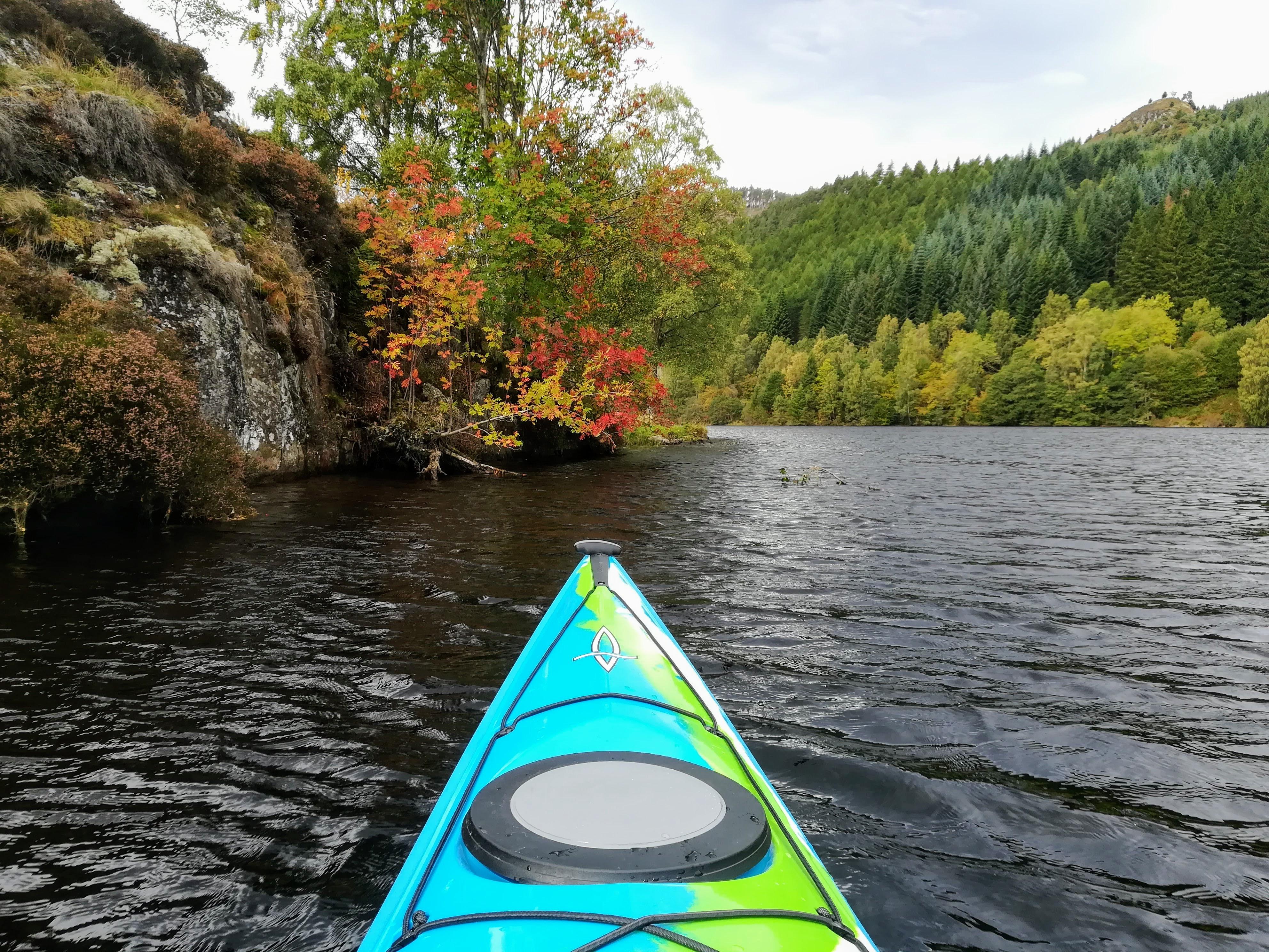 Loch Tummel, kayaking near Pitlochry