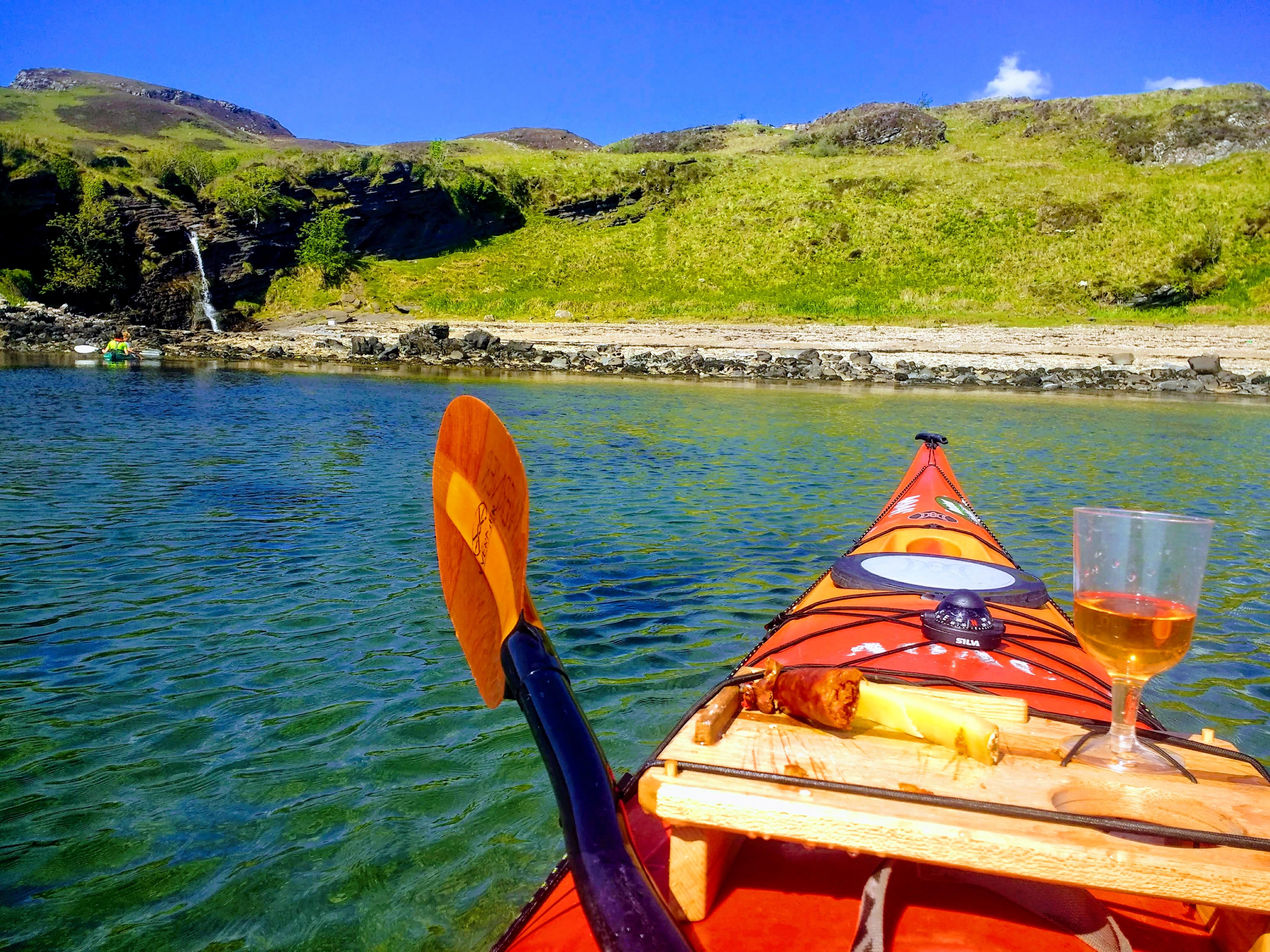 Cheese, wine, chorizo, kayaking, Outdoor Explore