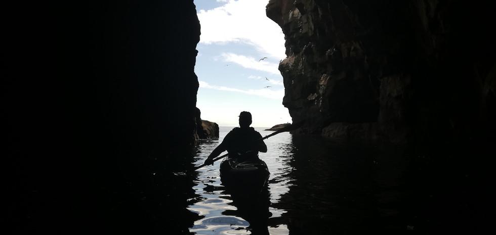 Sea kayak caving with Outdoor Explore.jp