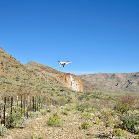 Using a small drone to image the complex structure of cap carbonates in the Naukluft Mountains, Namibia.
