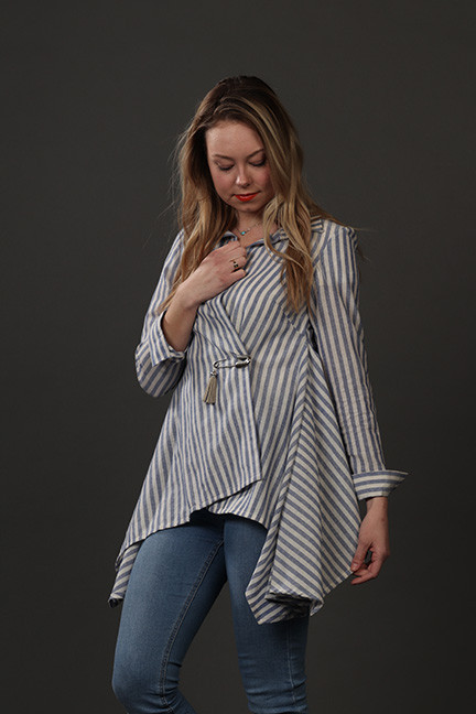 Striped Hankercheif Shirt