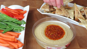 Flatbread Chips with Hummus Dip