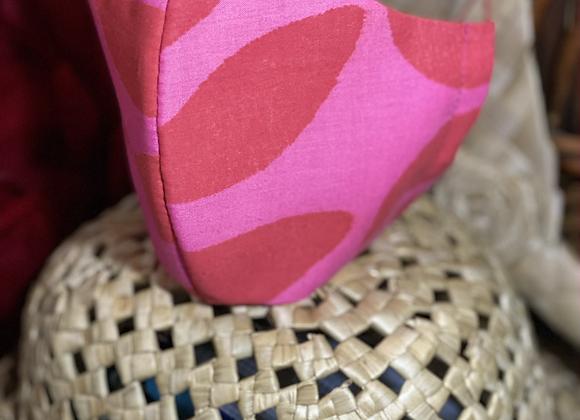 Pink Leaf Mask