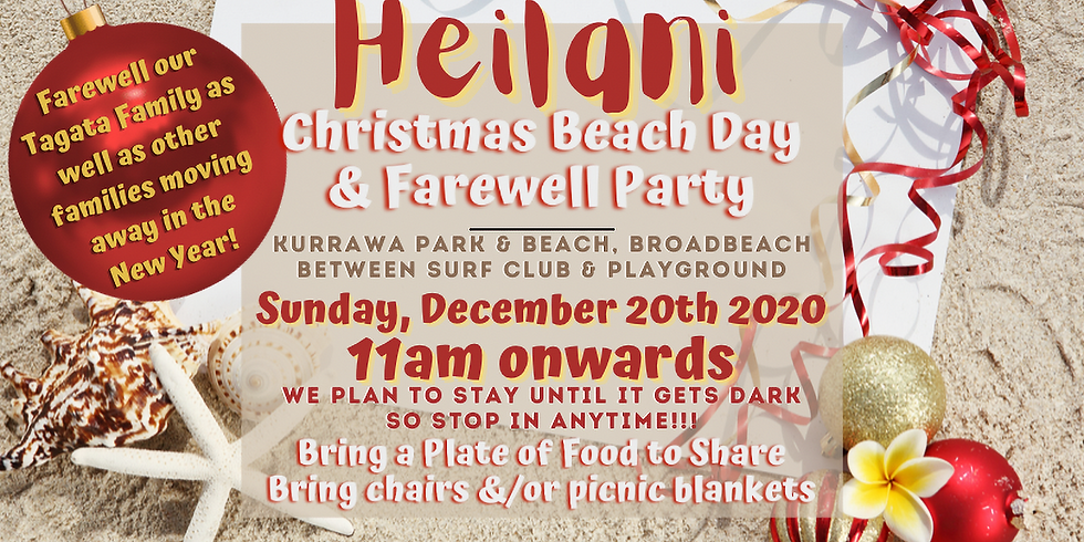 HEILANI Christmas Beach Day & Farewell Party