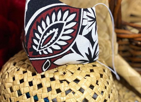 Brown Black Tapa Mask