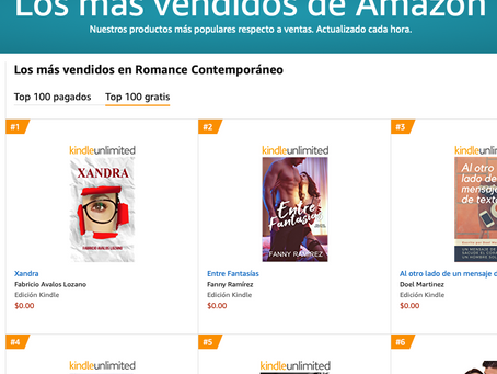 """Xandra"" es #1 en Amazon."