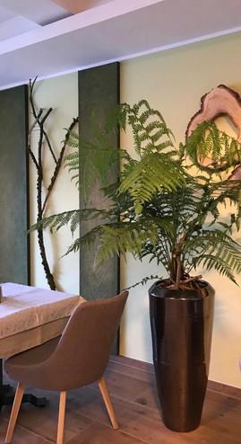 Lehmplatten von FLORAL M im Raum dekoriert